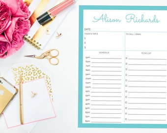 Personalized Day Planner Notepad