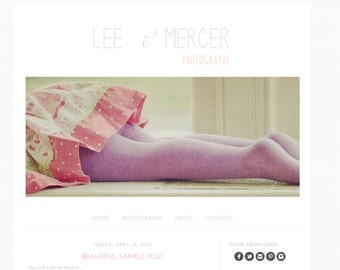 Blogger Template Premade Blog Theme. Built in Image Slideshow - Lee Mercer Photography blogger template
