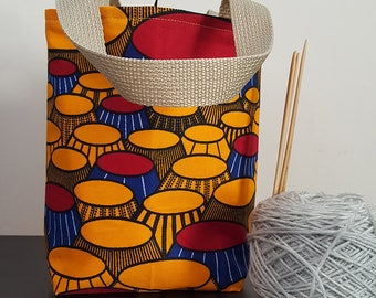 Yellow Landscape Knitting / Tote Bag