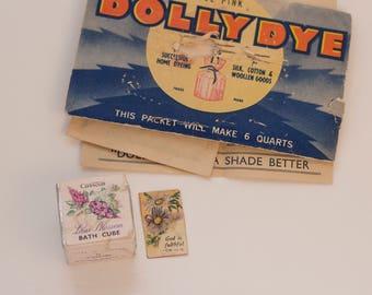 Vintage Dolly Dye + Cussons Bath Cube + Mini Print