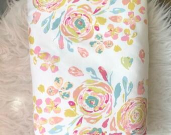 Peonies Swaddle/floral swaddle blanket/flower swaddle blanket/pink swaddle/Baby Swaddle Blanket/ receiving Blanket