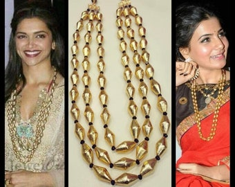 Dholki beads long necklace