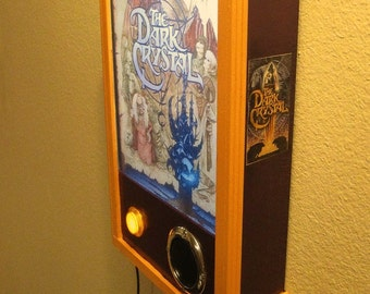 "Talking Lamp - ""The Dark Crystal""  Wall Lamp With Push-Button Sound/Music *Handmade*"