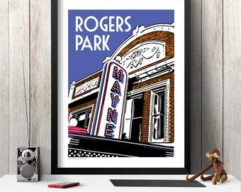ROGERS PARK Chicago Neighborhood Poster