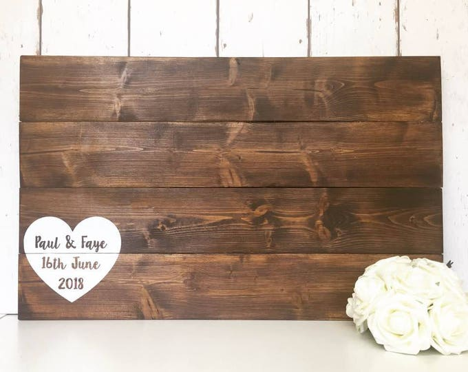 Featured listing image: Wedding Guest Book | Alternative Guest Book | Wooden Guest Book | Pallet Sign | Rustic Wedding | Personalised Guestbook | Wooden Guestbook
