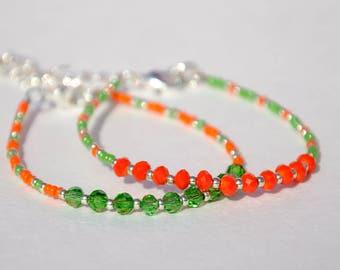 Best friend gift for best Friend bracelet Friendship bracelet white emerald Beaded bracelet Bead bracelet Simple bracelet Tiny bracelet