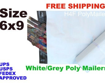 200 bags 6x9 Poly Mailer Sealing Shipping Mailing Bags Envelopes Packaging 2 mil