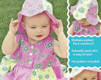 Baby Petal Dress and Hat Sewing Pattern Sew Baby Designs Pattern