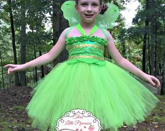 Green Fairy Tutu Dress  - Green Fairy Costume - Green Fairy Dress