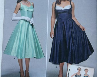 Simplicity Pattern 1155 Miss and Miss Plus Vintage 1950s Dress, Sizes 10, 12, 14, 16, 18