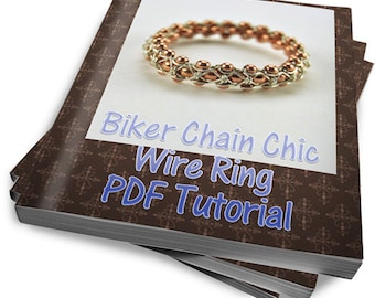 Biker Chain Chic Ring - Instant Download Wire Jewelry Tutorial Instruction
