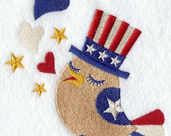 Patriotic Piper USA Embroidered Flour Sack Hand/Dish Towel