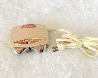 Mid-Century Polorator Massager by Amway Vintage Fun Kitschy Metal - Great condition works! Massage Tool with Cord