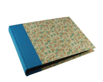 floral Photo Album turquoise
