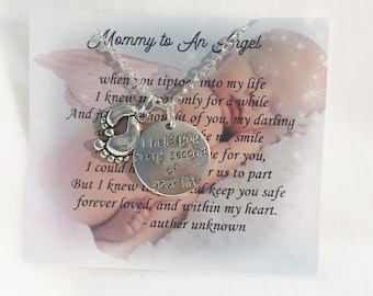 Miscarriage necklace Memorial necklace Miscarriage jewelry Miscarriage git