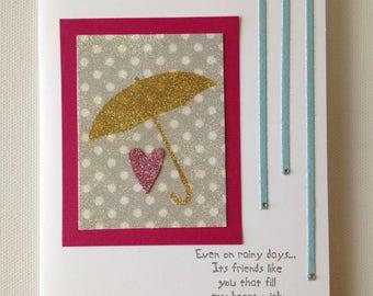 Rainy Days Handmade Card