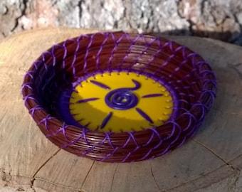 Coiled Pine Needle Basket