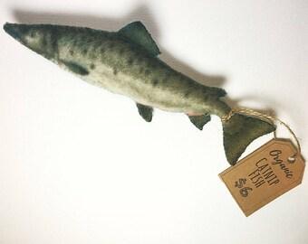 Catnip Fish Toy, Cat Toy, Handmade Cat Toy, Organic Catnip Salmon Cat Toy, unique cat toy
