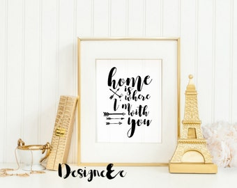 Quote Print - Home is where I'm with you