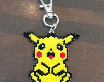 Pikachu-Pokémon-Beaded keychain