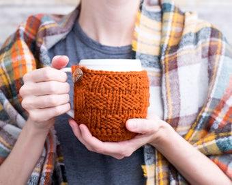 Knitted Mug Cozy, Coffee Mug Cozy, Mug Coaster, Knit Cup Cozy, Coffee Mug Sweater, Housewarming Gift, Hostess Gift, Fall Decor