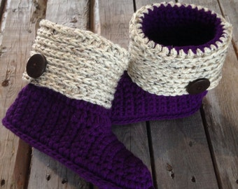 Crochet Slippers, Crochet women's slippers, Slippers, Crochet Slipper Boots