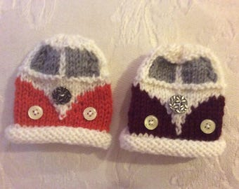 Hand knitted egg cosies