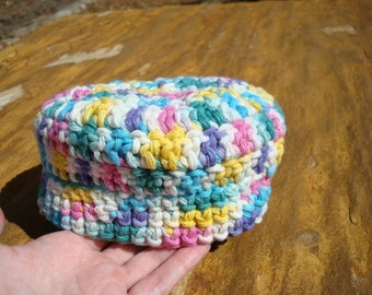 Girls Crocheted Thick Cotton Baby Cupcake Hat - Potpourri 460