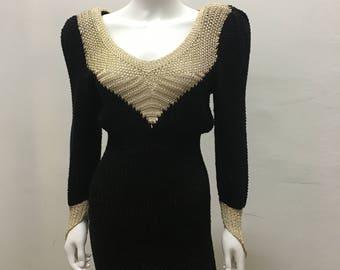 80's  vintage mini knit dress
