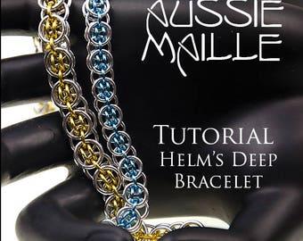Chain Maille  Tutorial - Helms Deep Bracelet