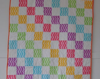 Rainbow baby quilt/play mat and cushion cover (lap quilt)