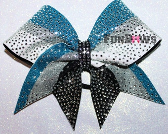 Beautiful Rhinestone  AllstarCheer  bow by FunBows - WOW - Customize this !