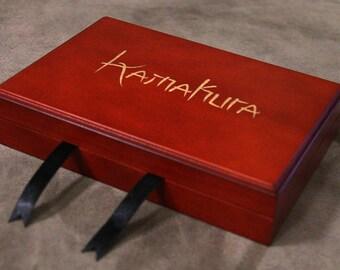 Kamakura - Engraved Cherry Wood Display Case