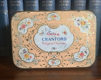 Vintage Pastel Peach Tin by Caley Cranford Wrapped Chocolates