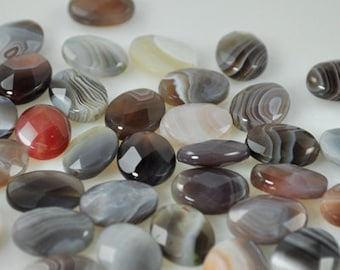 15 Faceted Botswanian Agate - 14x10mm (Bots-001)