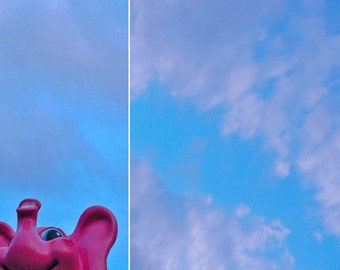 elephant fly - ACEO, mini-print