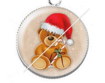 Pendant cabochon resin Merry Christmas happy holidays 25