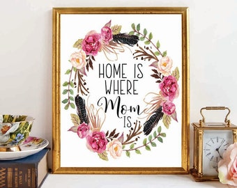Mom Gift, Christmas Gift Mom, Mother's Day Gift, Mothers Day Print, Gift for Mom, Christmas Gift, Printable Mom Wall Art, For Mom,