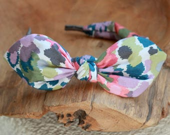 Headband for Women, Abstract Floral Bow Headband Floral Print Hair Accessories Womens Floral Pattern Headband Fabric Headband Scarf Headband