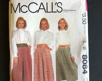 1982 McCall's pattern 8084 Misses Size 8 Laura Ashley Skirt, Uncut
