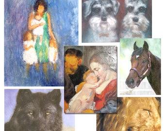 Portrait Paintings, People Portraits, Animal Paintings, Pet Portraits, Nature Paintings, Animal Paintings