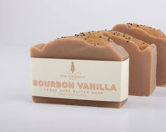 Bourbon Vanilla Soap - Handmade Soap - Cold Process Soap - Soap For Men - Husband Gift - Fathers Day Gift