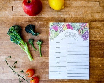 Shopping List and Meal Planner Notepad