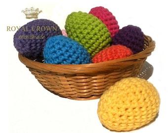 Oeufs de Pâques, décoration de Pâques au Crochet, décorations de printemps, oeufs de Pâques au Crochet, décorations de l'oeuf, décor de printemps, Pâques