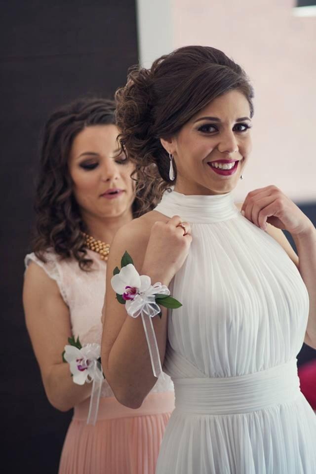 Soleil vestido nupcial elegante vestido de boda Casual en