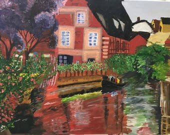 House by the Water on canvas