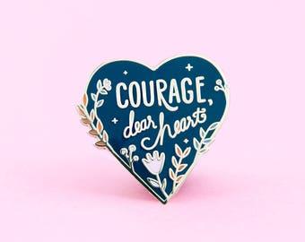 Courage Enamel Pin | Narnia Pin - Lapel Pin - Enamel pins