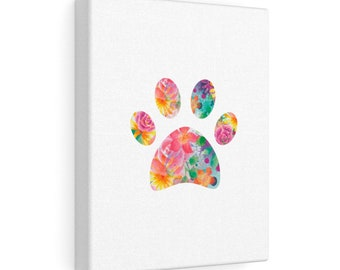 Floral Paw Canvas Gallery Wraps