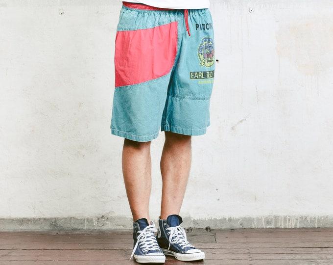 Bold Men Summer Shorts . 90s Surfer Shorts Vintage Beach Shorts Board Shorts Vacation Shorts Pants Swim Trunks Holiday Short . size Large L