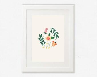 Téléchargement numérique, Impression d'art botanique, Illustration, Impression florale, Art print